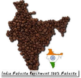 India Robusta Parchment 100% Robusta - 500g - Ganze Bohne -